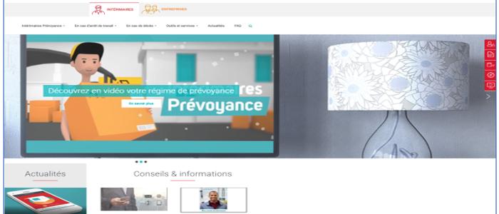 La page d'accueil du site Intérimaires Prévoyance fait peau neuve