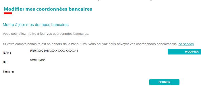 IMPORTANT – Vérifiez votre Relevé d'Identité Bancaire pour être indemnisé rapidement.